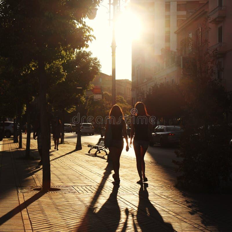 Walking in the sun ray