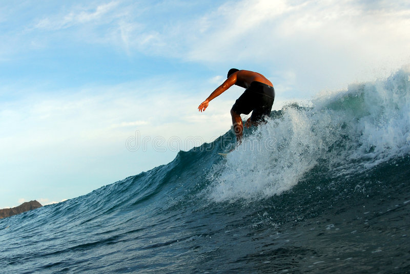 Download Walking on a Surfboard stock photo. Image of surf, honolulu - 1324234