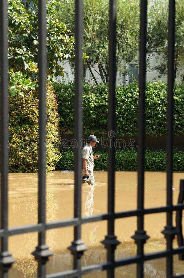 Download Walking Thigh-deep Through The Flood Editorial Stock Image - Image: 27829739