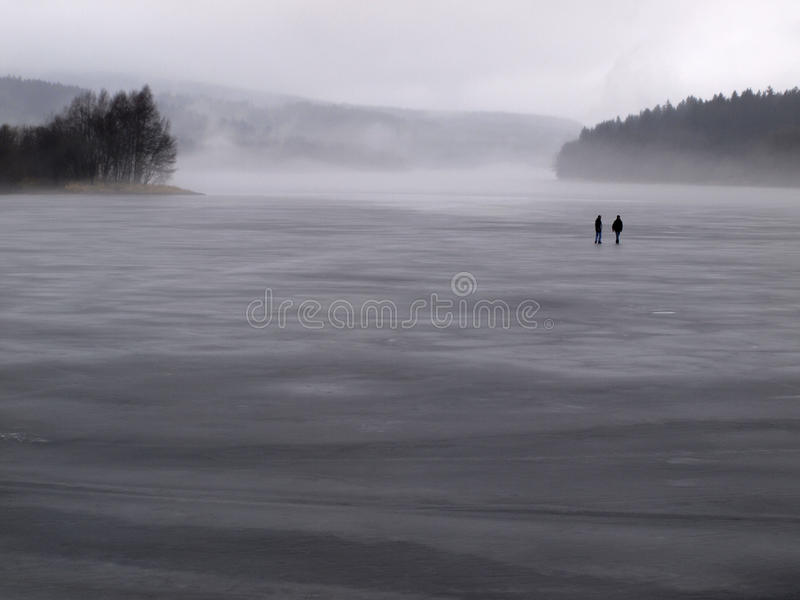 Download Walking on the thin ice stock image. Image of deep, danger - 12518637