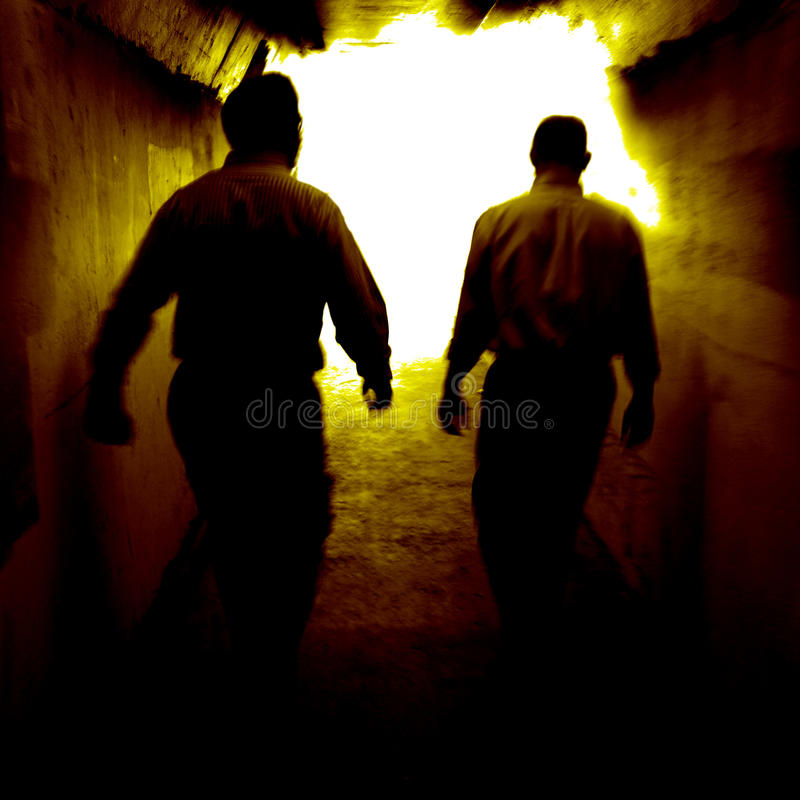 Walking to the Light royalty free stock photos