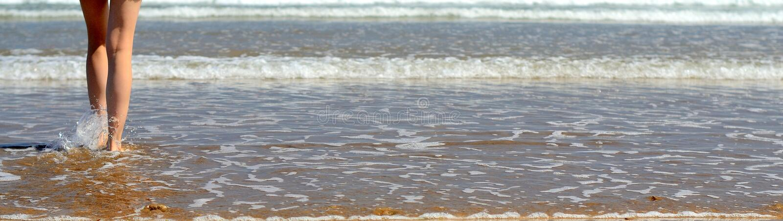 Download Walking to the sea stock image. Image of beautiful, daughter - 26483057