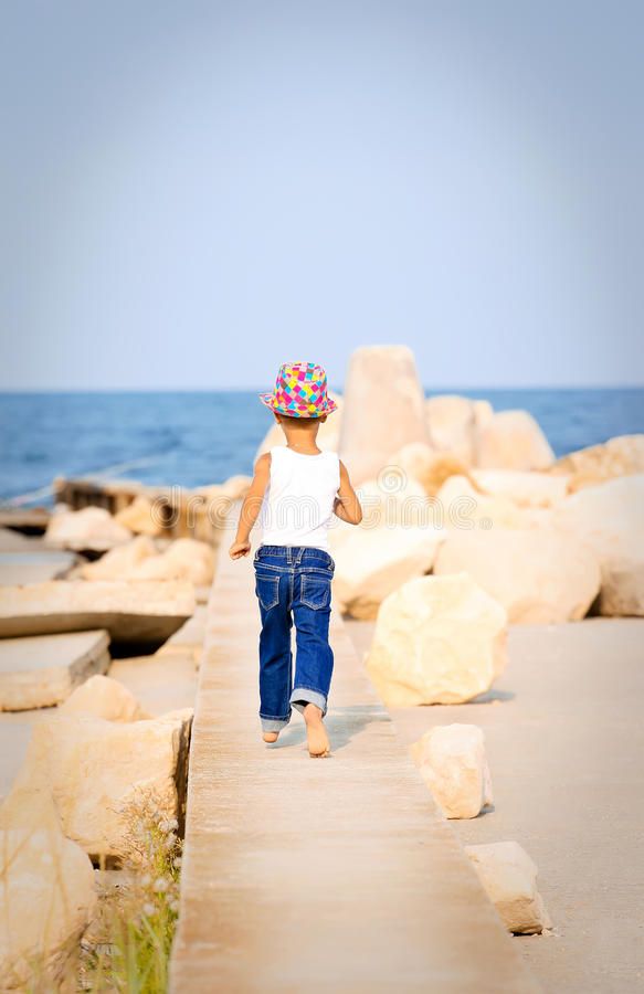 Walking To The Sea Stock Image