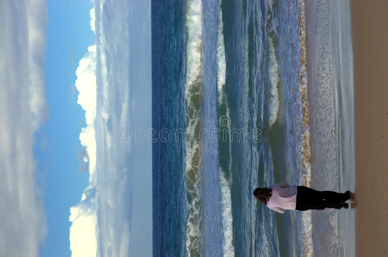 Download Walking to the waves stock image. Image of surf, ocean - 129445