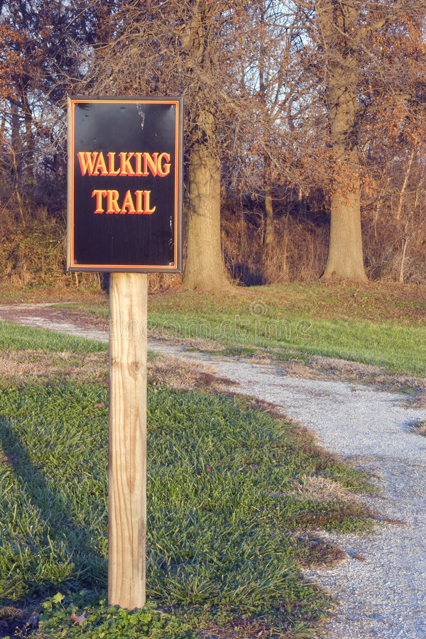 Walking trail royalty free stock photography