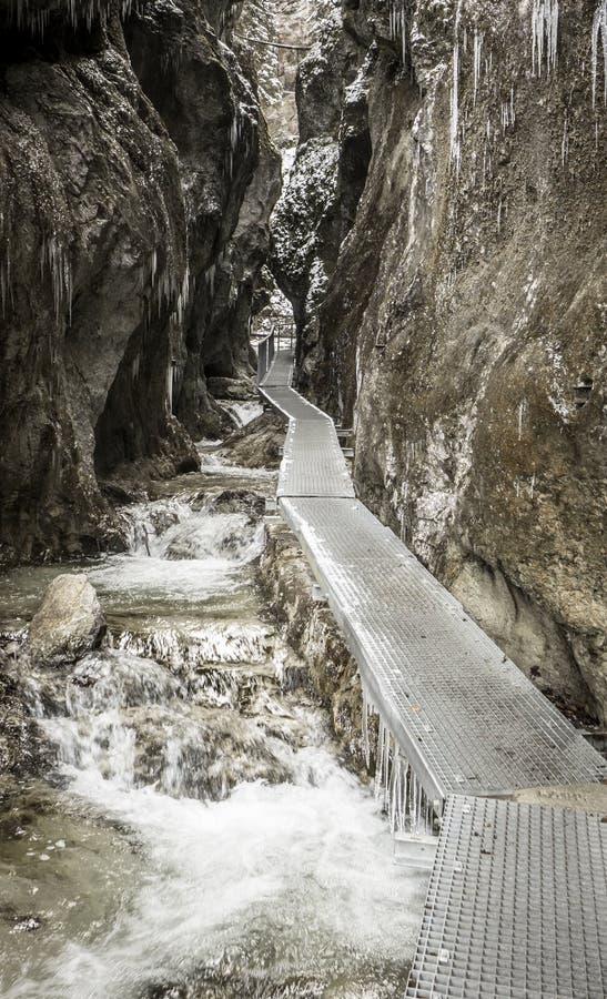 Walking trail at Janosikove diery, Slovakia royalty free stock photo