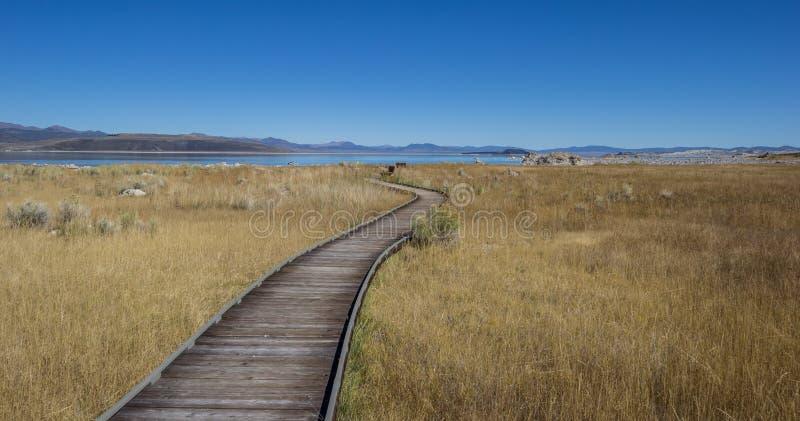 Walking trail at Mono Lake in California royalty free stock images