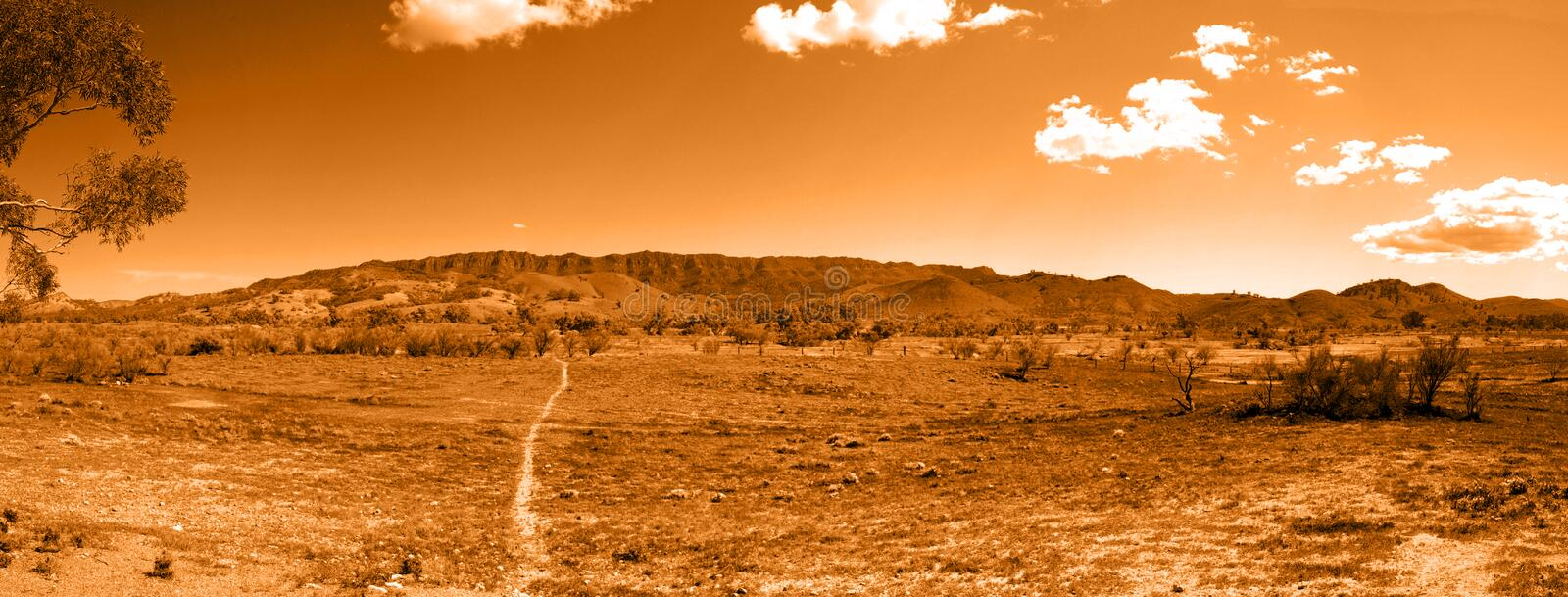 Download Walking Trail To Outback Hills Stock Photo - Image: 6378670