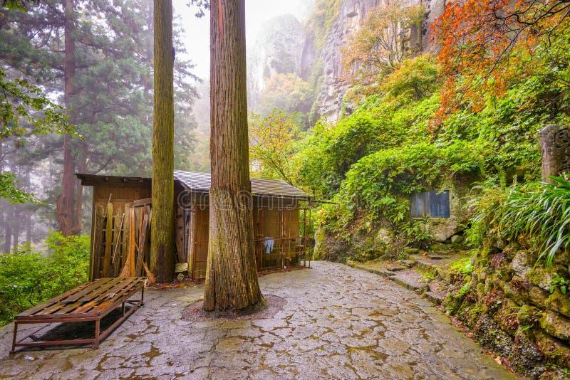 Yamadera Mountain Temple royalty free stock image