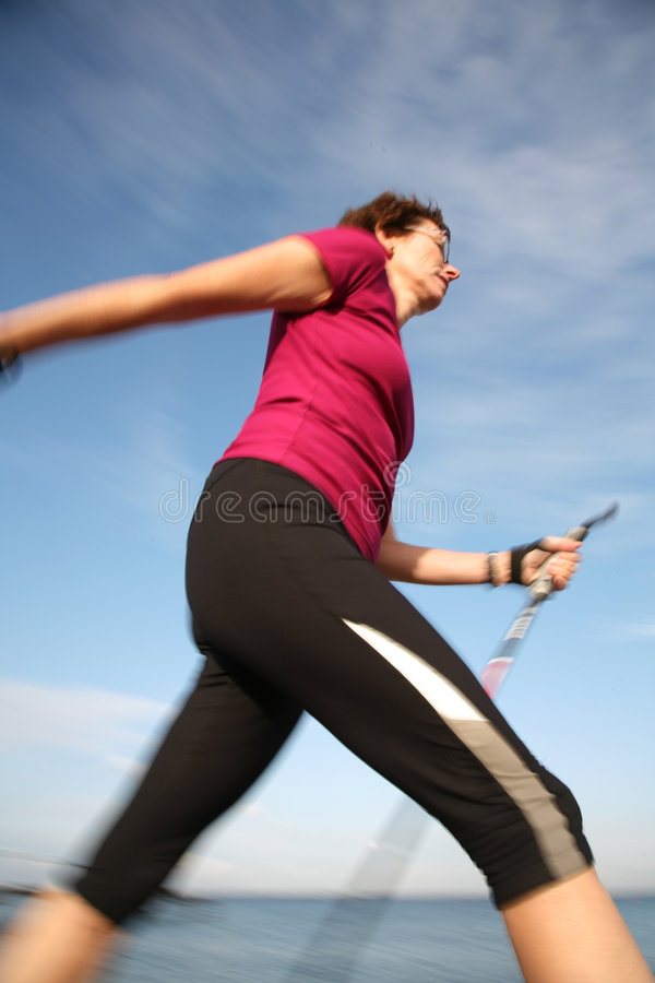 Walking training stock images