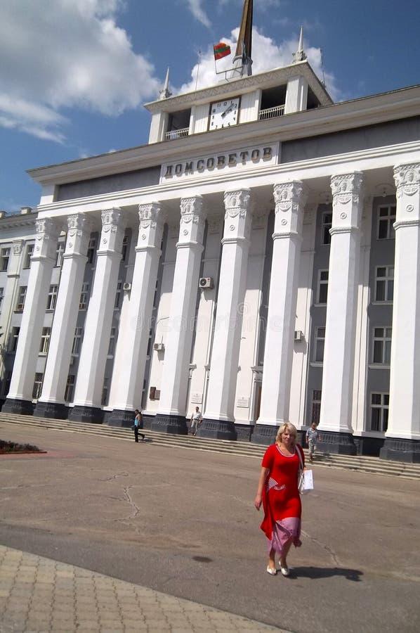 Walking in Tyraspol royalty free stock photography