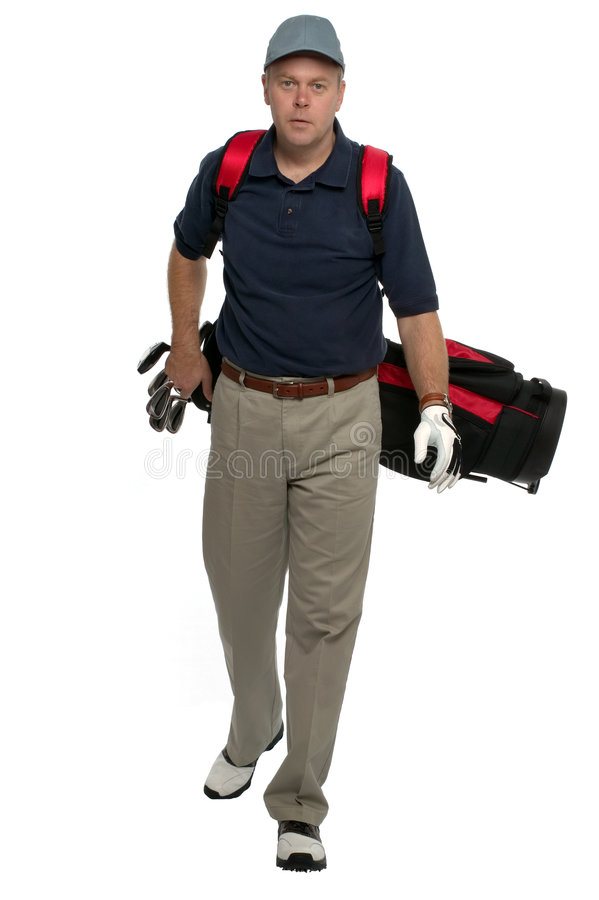 Walking Up The Fairway Royalty Free Stock Photography