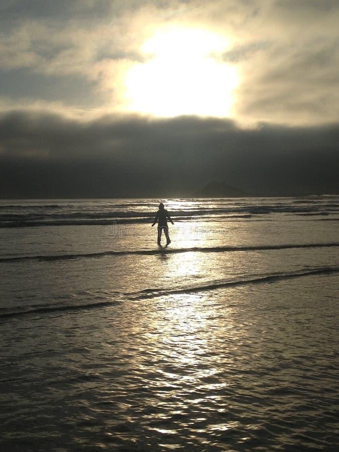 Walking on Water royalty free stock image