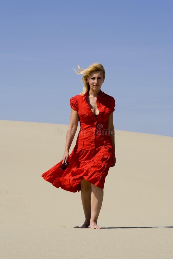 Walking woman royalty free stock photo