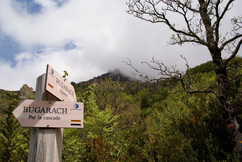 Walkingpath at Bugarach. Walking-path at Bugarach in the Pyrenees to 21 december 2012 stock photo