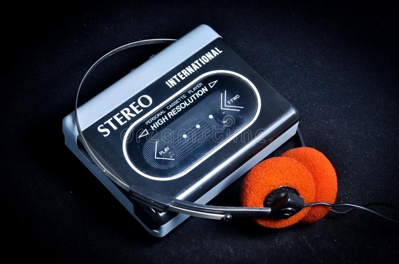 Walkman cassette player stock images