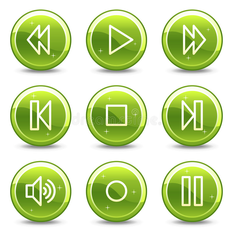 Download Walkman web icons stock vector. Image of play, symbols - 8242893