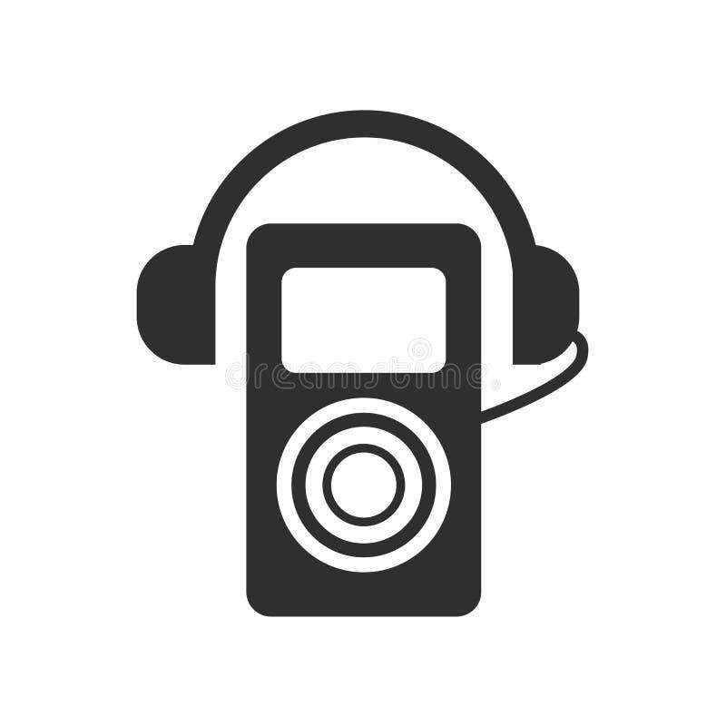Walkmanikonenvektorzeichen und -symbol lokalisiert auf weißem Hintergrund, Walkmanlogokonzept stock abbildung
