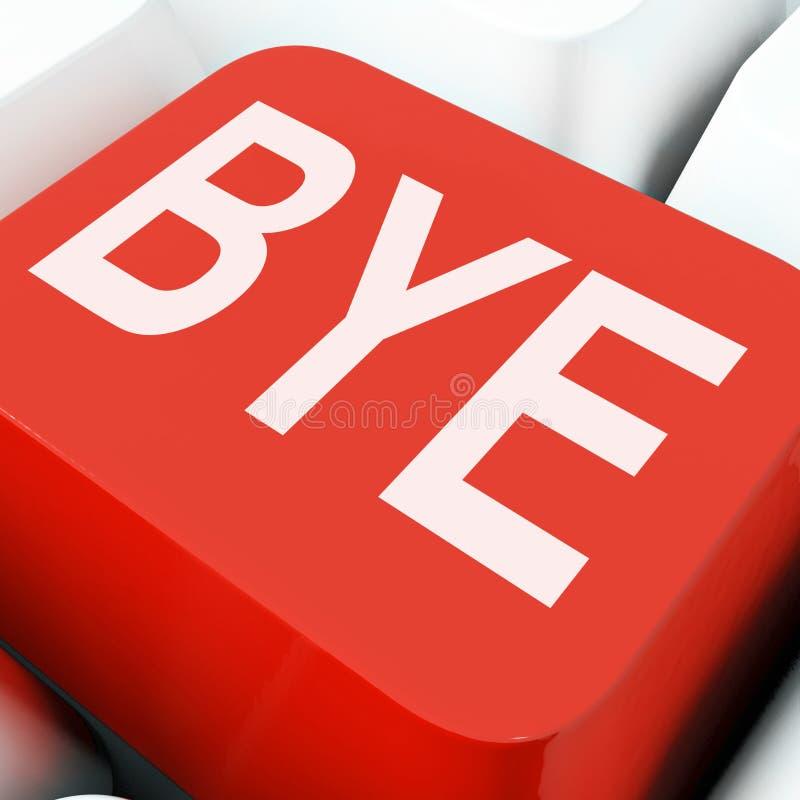 Walkoweru klucz Znaczy pożegnanie Lub odjeżdżanie obrazy stock
