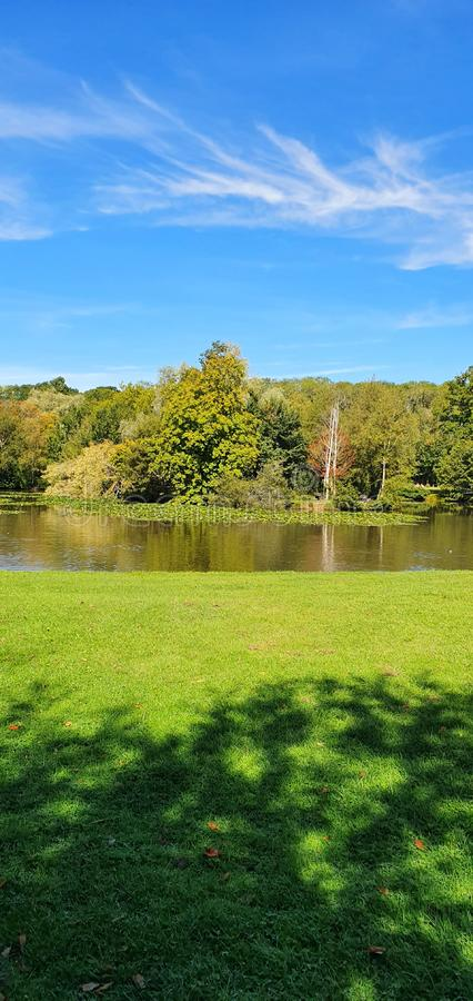 Walks lake and parks stock photos