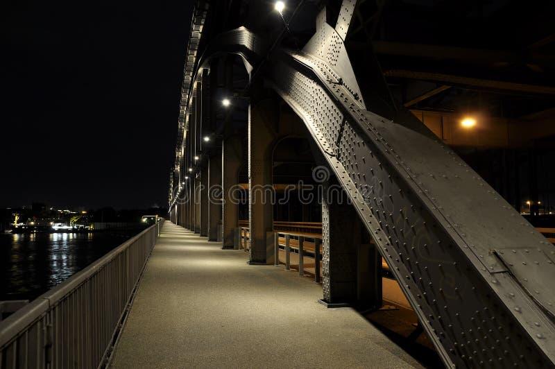 Walkway. Walkay on a bridge in Hamburg Germany stock image