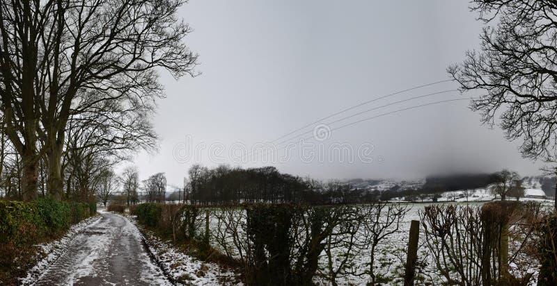 Walkway at Castleton, Peak District National Park, UK. Photo taken on Dec 8th, 2017 royalty free stock photo