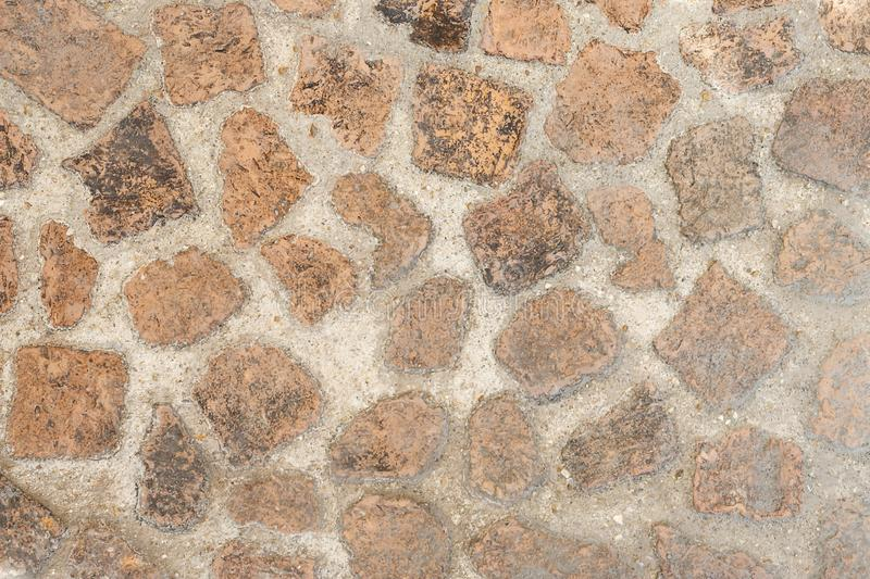 The walkway floor is made of old bricks royalty free stock photos