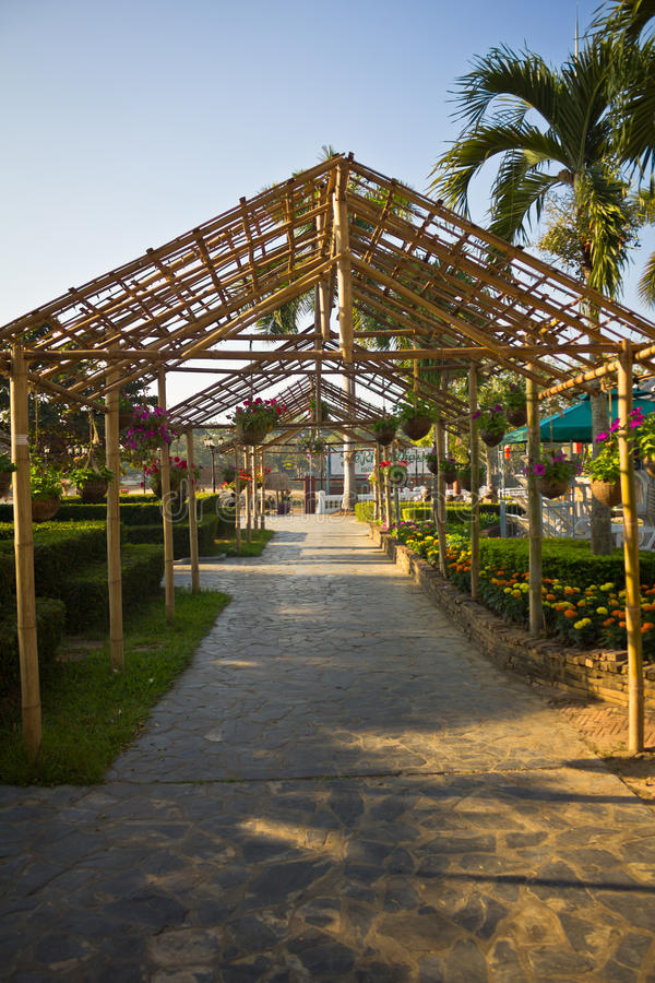 Download Walkway in the garden. stock image. Image of ornamental - 39509189