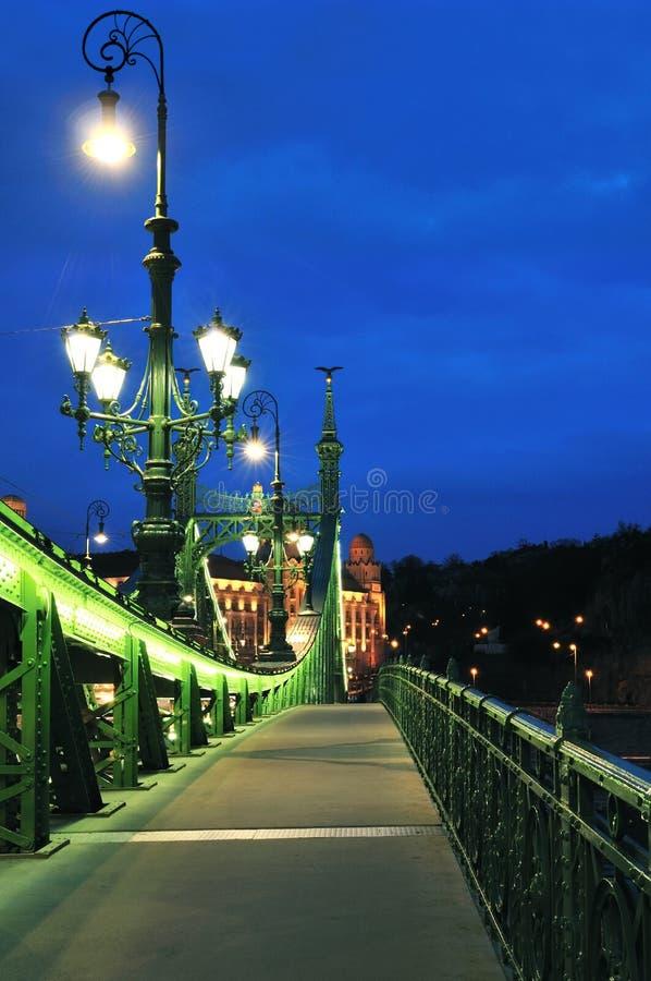 Walkway on Liberty bridge royalty free stock image