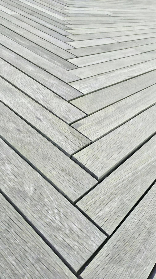 The walkway is made of plank floor royalty free stock image