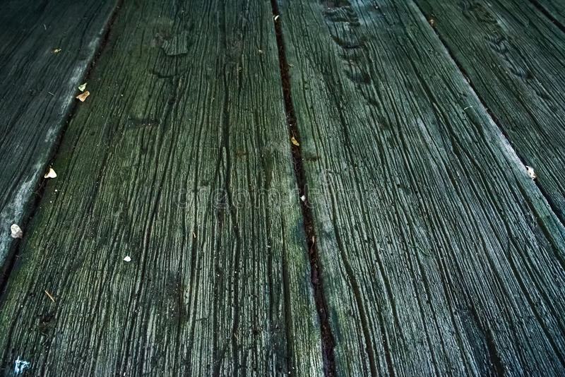 Walkway made of wooden slats stock images