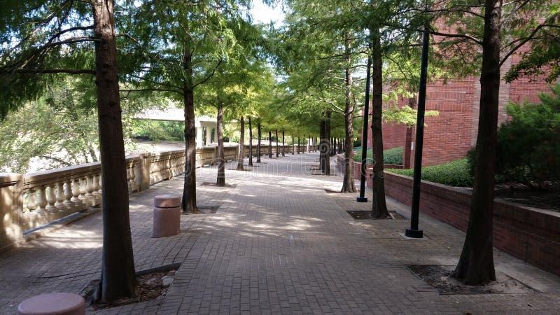 Walkway next to Wortham Center royalty free stock photography
