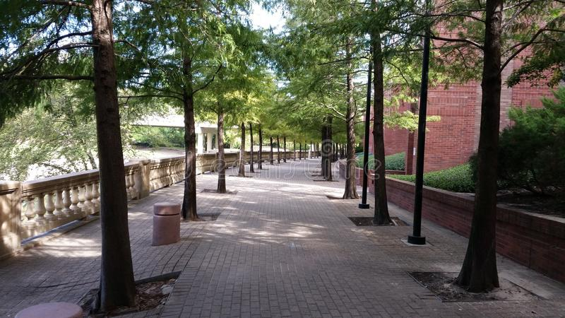 Walkway next to Wortham Center stock image