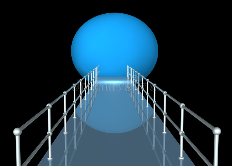 Download Walkway With Railing In Tunnel Stock Illustration - Image: 6159839