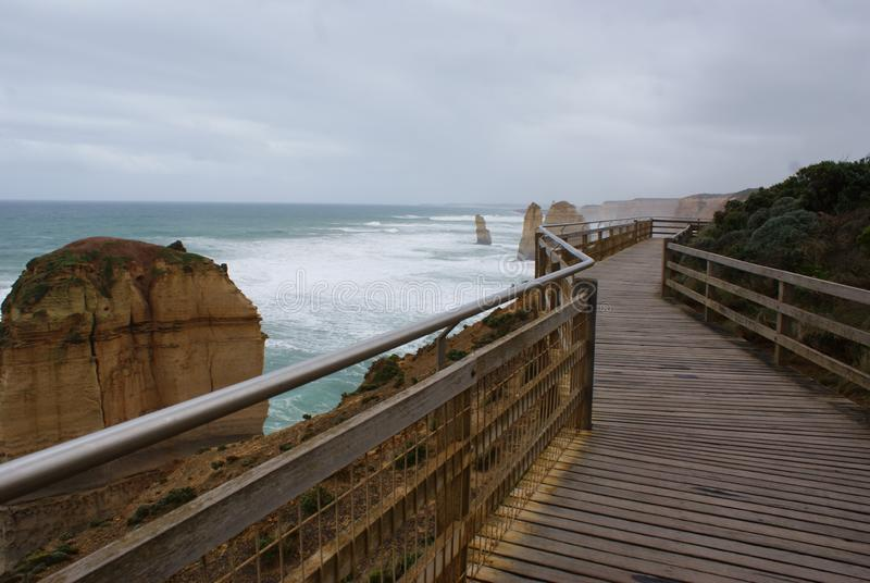Walkway to the 12 Apostles Tourist Sughtsee royalty-vrije stock foto