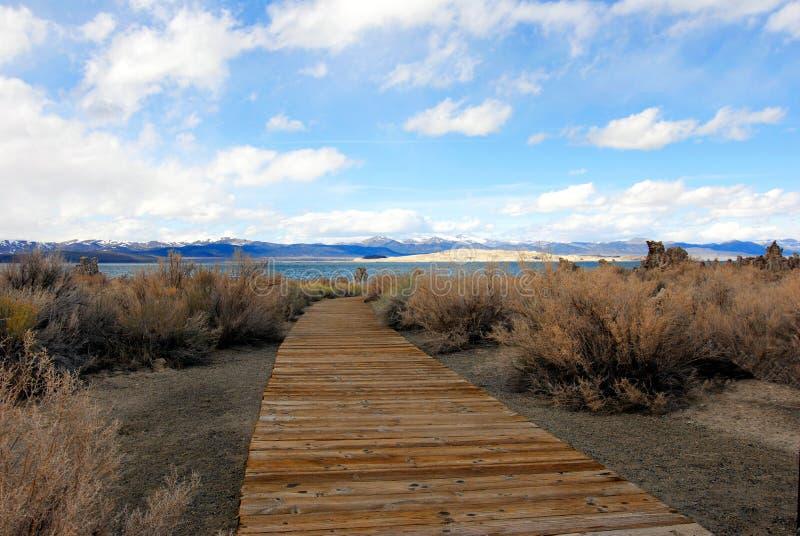 Walkway To Mono Lake stock images