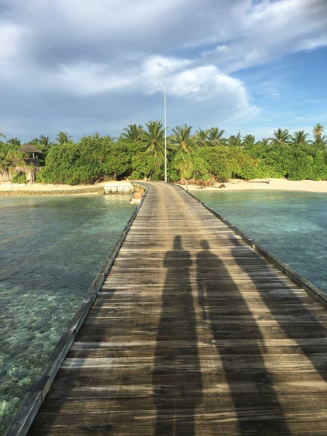 Walkway towards island royalty free stock photos