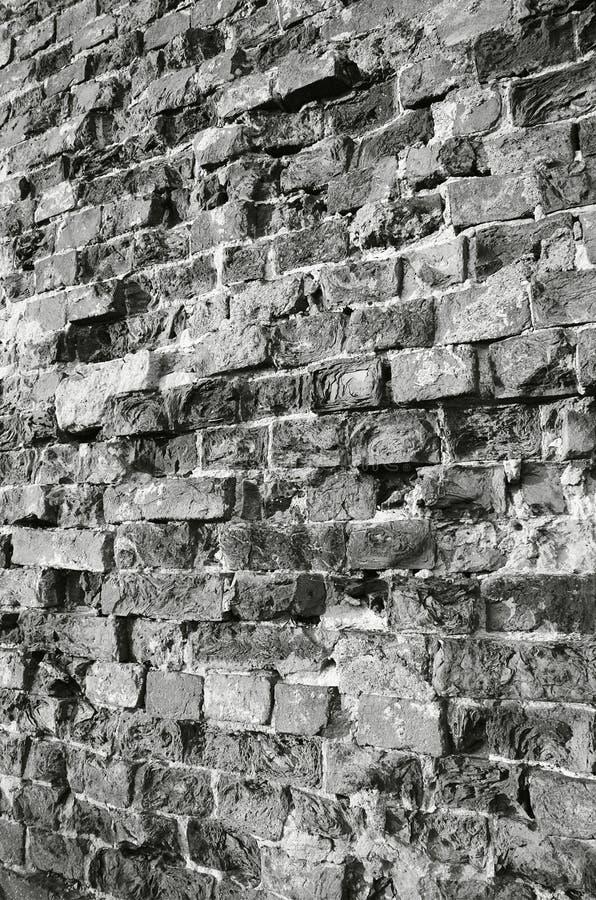 Wall. Brick wall black-and-white foto stock photos