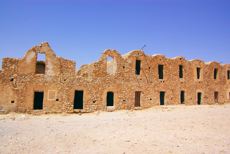 Wall of ancient Berber town stock photography