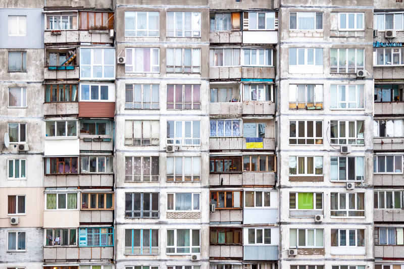 Wall of apartment house royalty free stock image