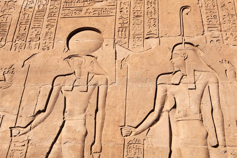 Wall art in Egypt stock photo. Image of luxor, unesco - 31356318