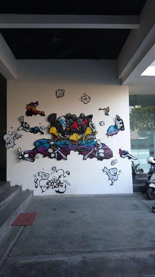 Wall art stock photography