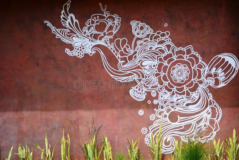 Wall Art in Guadalupe Valley stock images