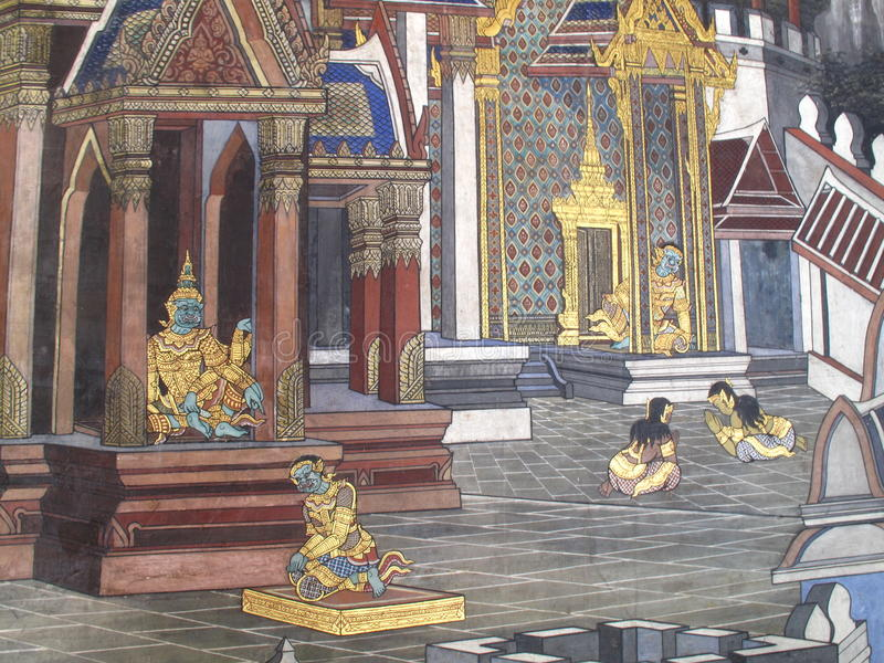 Wall Art Thailand Culture royalty free stock photos
