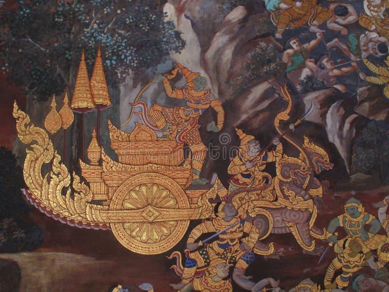 Wall Art Thailand Culture stock photo