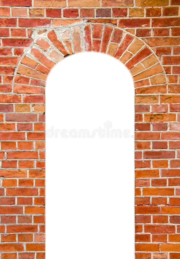 Wall background with isolated window hole royalty free stock images