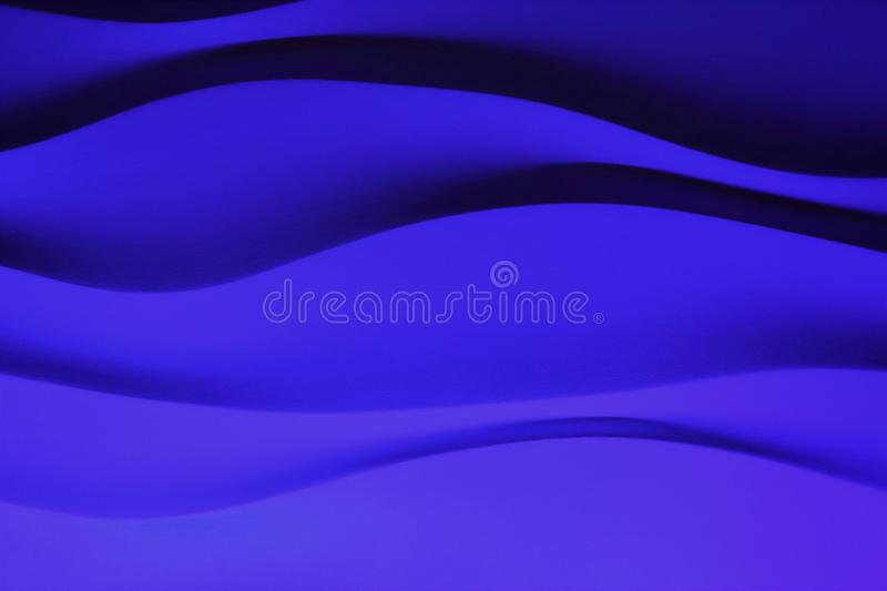 Wall background wave blue stock image