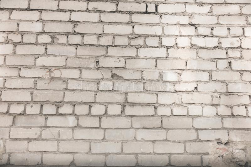 The wall background from white bricks stock image