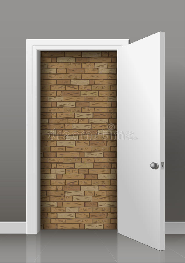 The wall behind the door royalty free illustration