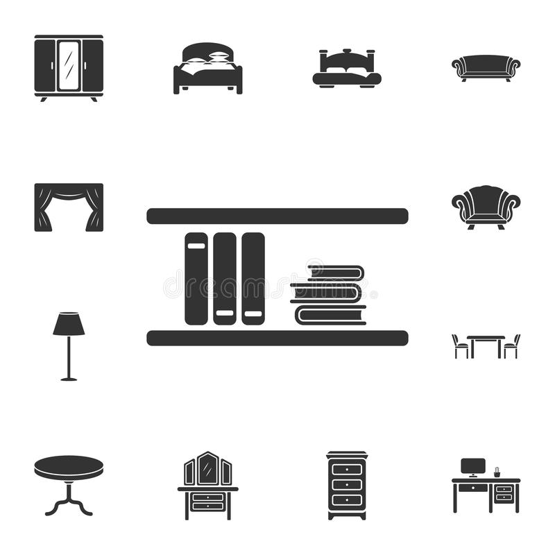 Wall bookshelf icon. Simple element illustration. Wall bookshelf symbol design from Home Furniture collection set. Can be used for stock illustration